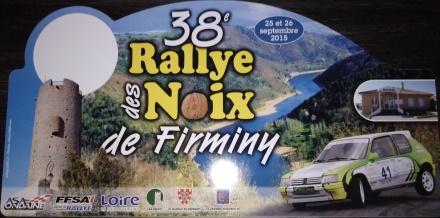 Plaque 38ème rallye des Noix de Firminy 2015