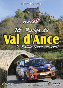 Affiche 16° rallye du Val d'Ance et Vhc